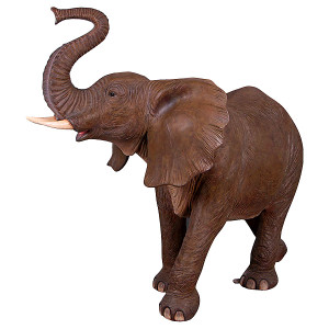 "63""H African Elephant Fiberglass Novelty Collectable Decor"