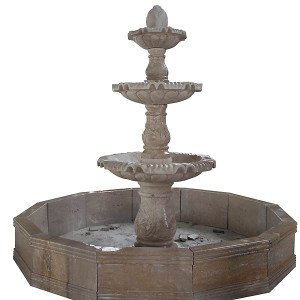 Two Tier Fountain - Beige