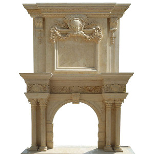 Mantle 2 Tier-BeigeMarble (40.5x42)