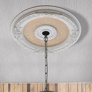 Petite Blanco Chandelier Ceiling Medallion 24 inch