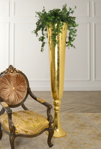Dramatic Oro Tall Vase