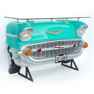 "40""H Turquoise Car Automobile Bar Turquoise Fiberglass Statue Novelty Collectable"