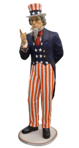 "100"" USA Uncle Sam Fiberglass Statue Novelty Collectable Décor"