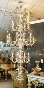 Alonzo Brush Silver Chandelier