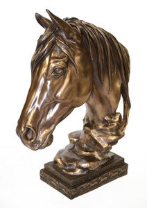 Bronzed Horse Bust Classic