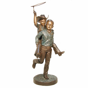 Boys with Lasso - Bronze