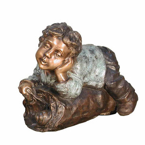 Boy On Log - Bronze