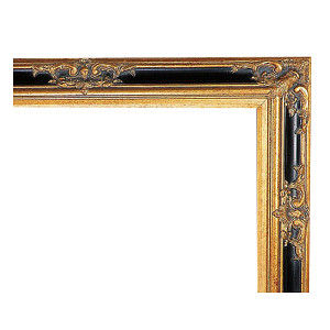 Grand Victorian Frame 12X24 Antique Gold with Black
