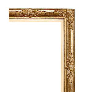 Grand Victorian Frame 24X30 Antique Crackle with Liner