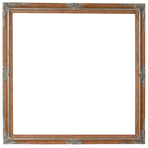 Mini Grand Victorian Frame 40X40 Pecan and Silver