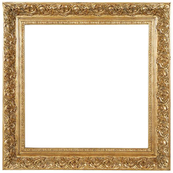 Spec Fleur De Lis Frame 30x30 Antique Gold World Of Decor