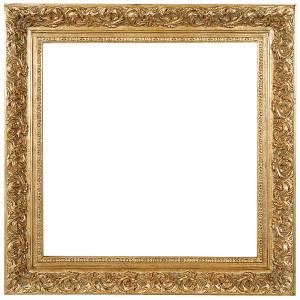 Spec Fleur De Lis Frame 30X30 Antique Gold