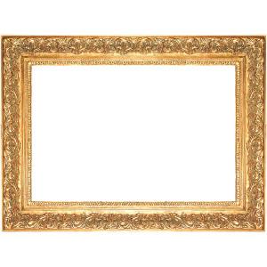 Spec Fleur De Lis Frame 36X36 Antique Gold