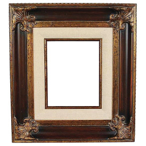 Classic Crest Frame 24X48 Wood Tone with Linen Liner