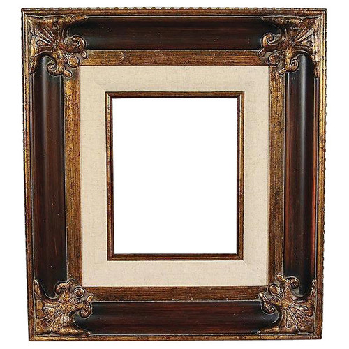 Classic Crest Frame 24X48 Wood Tone with Linen Liner - World of Decor