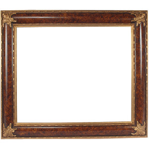 Elegant Burl and Gold Frame 12X16