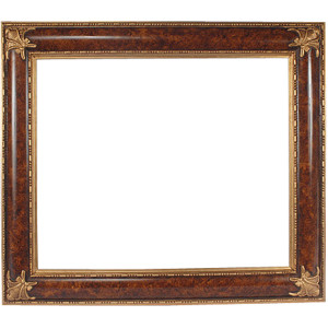 Elegant Burl and Gold Frame 30X40