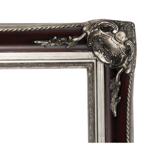 Silver Rengent Frame 30X40 Burgundy with Antique Silver