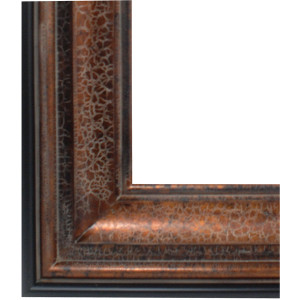 Colossus Frame 36X66 Crackle Copper with Black