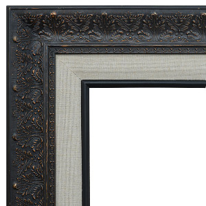 Focal Point Frame 12X24 Black with Linen Liner