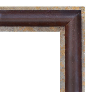 Wood Scoop Frame Silver 36X36