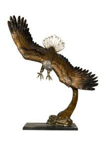 Eagle on Marble Base - Bronze