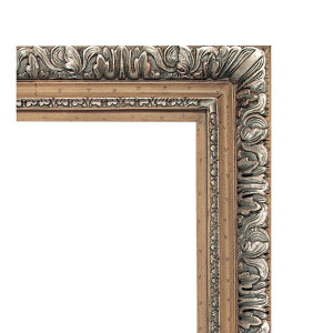 Grand Franco Italian Frame 36X36Pecan and Silver