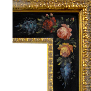 Fragant Reflection Frame 20X24 Hand Painted Floral