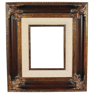 Classic Crest Frame 30X40 Wood Tone with Linen Liner