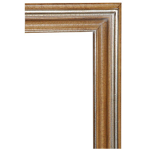 Open Woods Frame 24X36 Antique Crackle with Silver