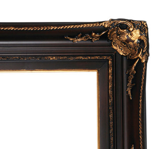 Club House Frame 48X60 Burgundy with Antique Gold