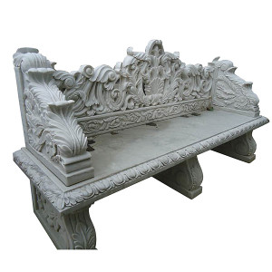 Bench - White Marble