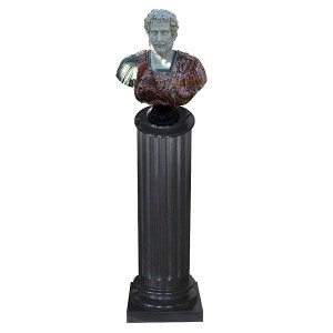 Bust on Pedestal Multi Color Marble 122