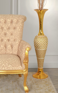 Golden Pearl Tall Vase