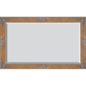 Grand Victorian Frame 30X40 Pecan and Silver