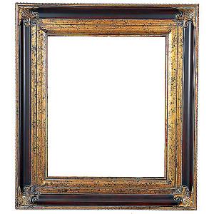 Classic Crest Frame 24X36 Wood Tone