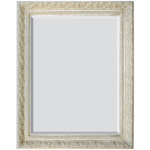 Spec Fleur De Lis Mirror 36x48 French White