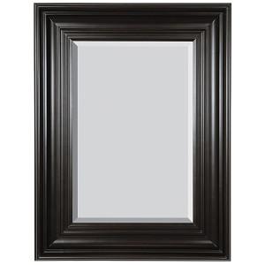 Grand Simplicity Mirror 20x24 Black with Red Undertones