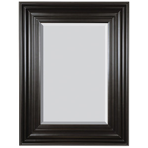 Grand Simplicity Mirror 30x40 Black with Red Undertones