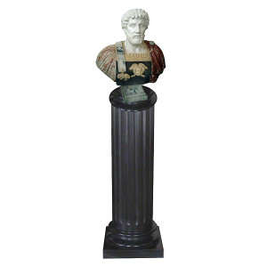 Bust on Pedestal - Multi Color Marble 1