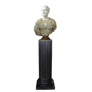 Bust on Pedestal - Multi Color Marble 118