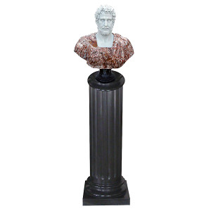 Bust on Pedestal - Multi Color Marble 119