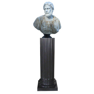 Bust on Pedestal - Multi Color Marble 120