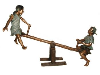 See Saw - Bronze Children Statue