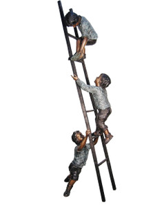 Three Kids on a Ladder - Bronze