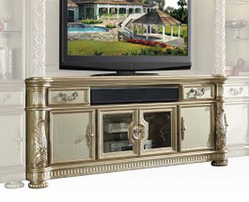 Silvered Gold TV Console