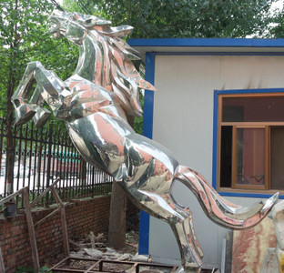 Stallion Sculpture - Stainless Steel