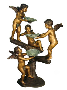 Four Cherub w/ Lotus Fountain
