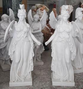 Pair of Athena - White Marble