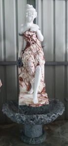 Woman Fountain - Multi Color Marble332